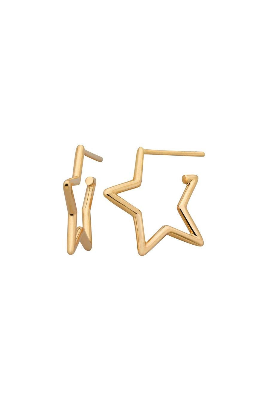 Star Outline Earrings Gold