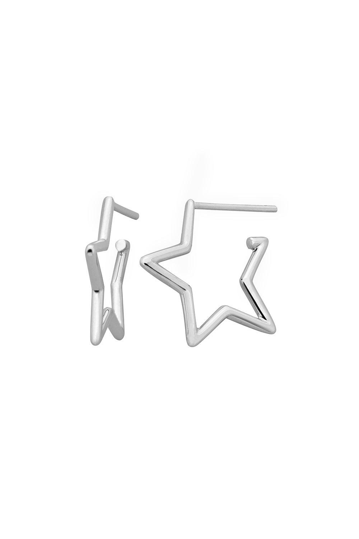 Star Outline Earrings Silver