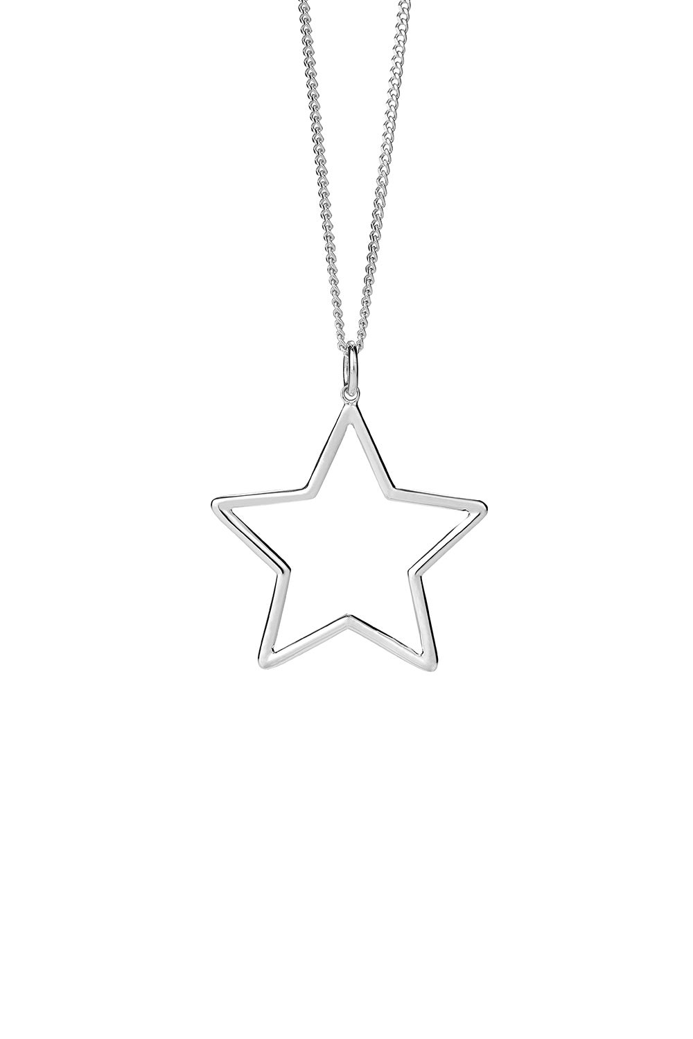 Star Outline Pendant Silver