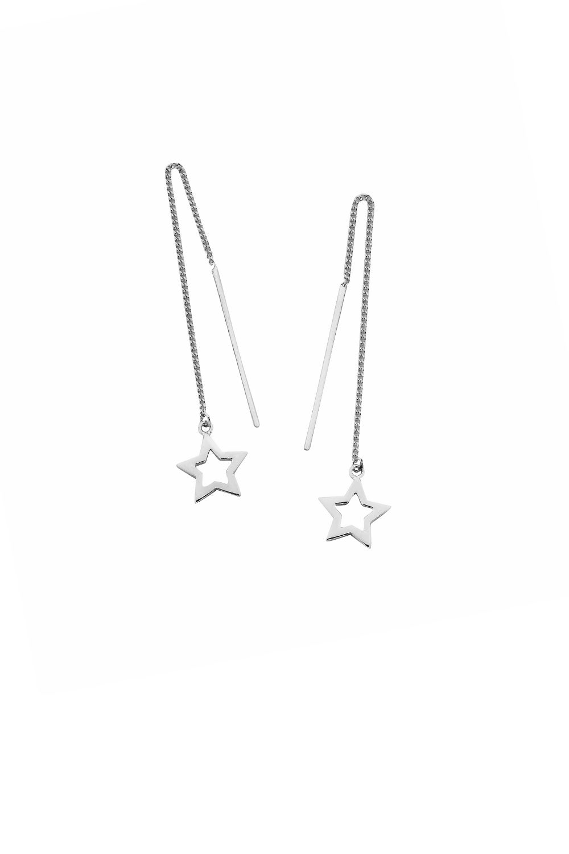 Star Thread Earrings Silver
