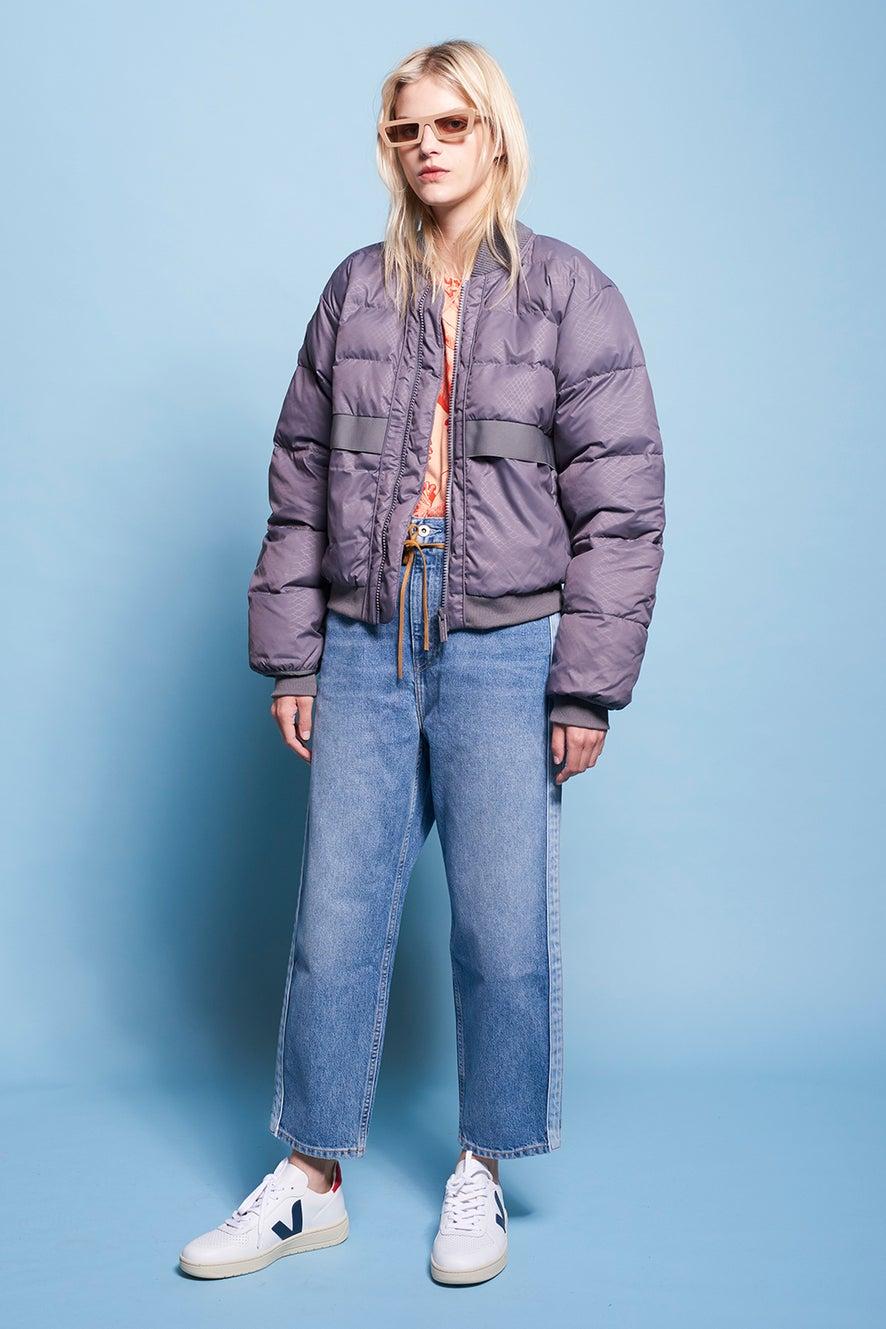 adidas by Stella McCartney Short Pad Jacket Granite