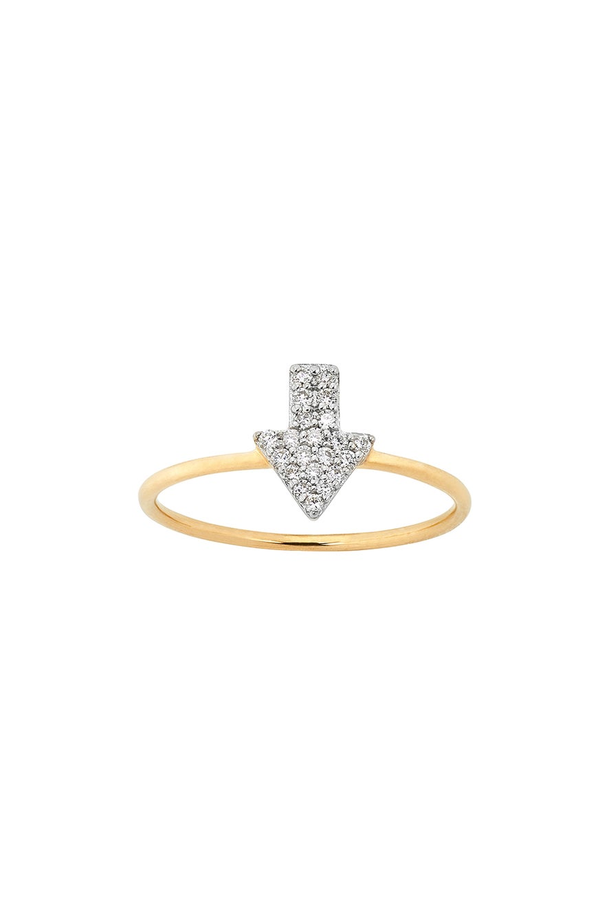 Diamond Superfine Arrow Ring, 9ct Gold, .13ct Diamond