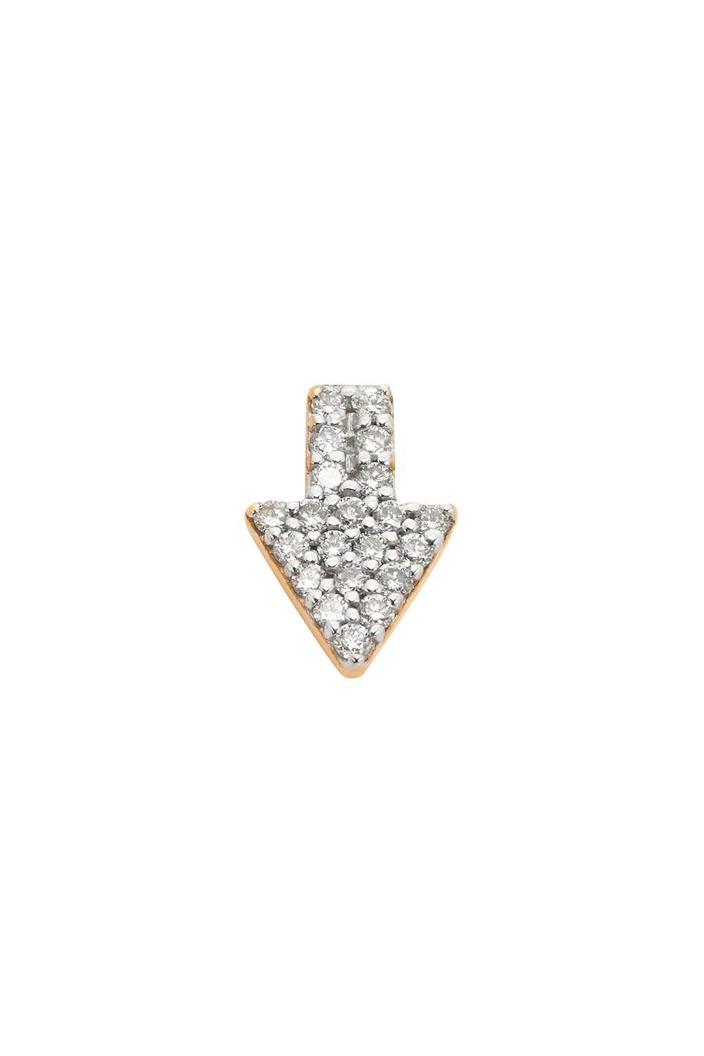 Superfine Arrow Stud Half, 9ct Gold, .125ct Diamond