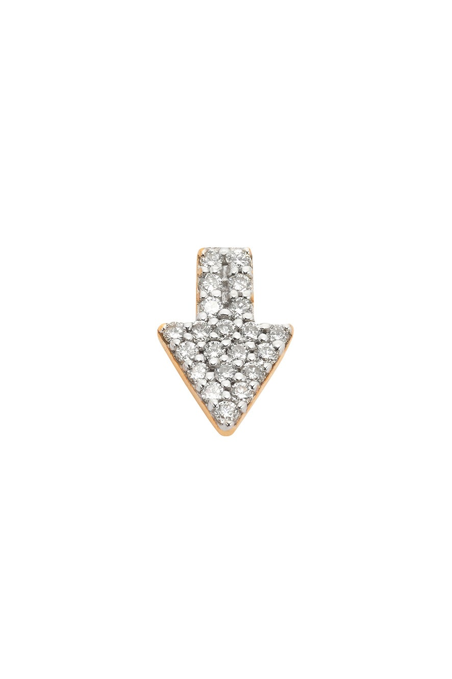 Superfine Arrow Stud Half, 9ct Gold, .125ct Diamond