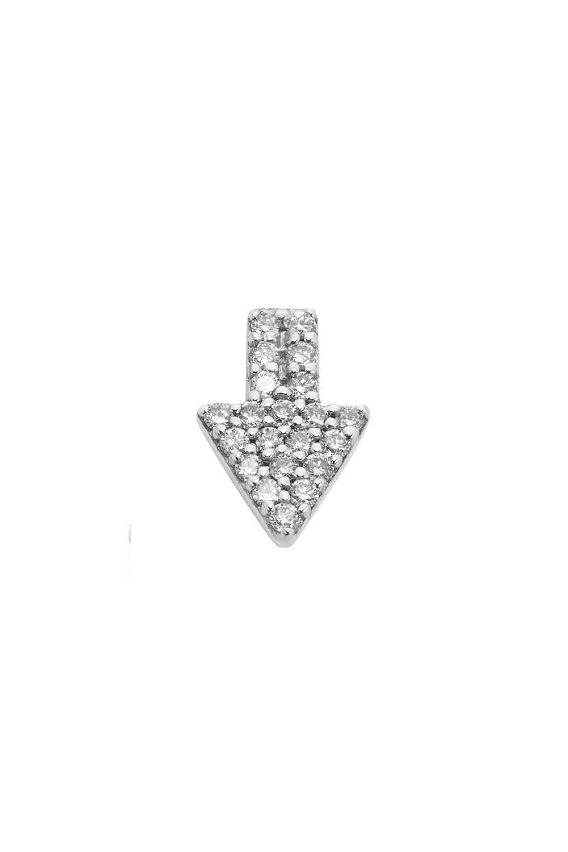 Superfine Arrow Stud Half, 9ct White Gold, .125ct Diamond