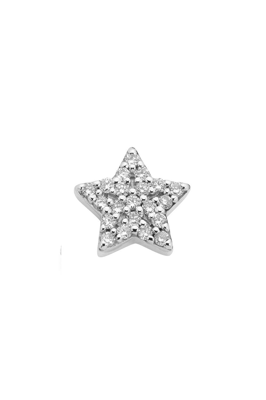 Superfine Star Stud Half, 9ct White Gold, .13ct Diamond