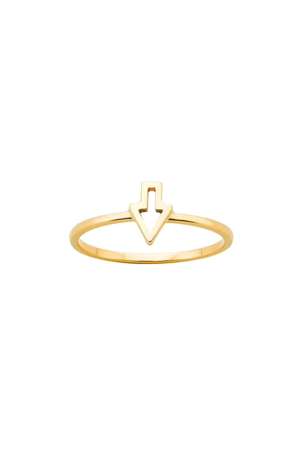 Superfine Runaway Arrow Ring Gold