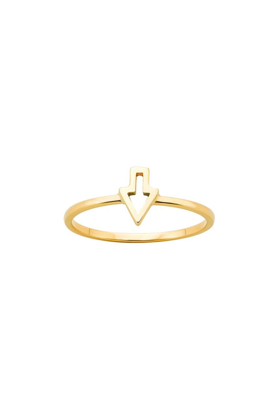 Superfine Runaway Arrow Ring Gold