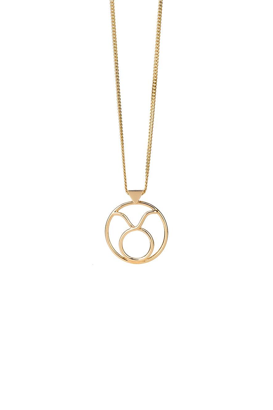 Taurus Necklace Gold