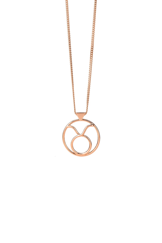 Taurus Necklace Rose Gold