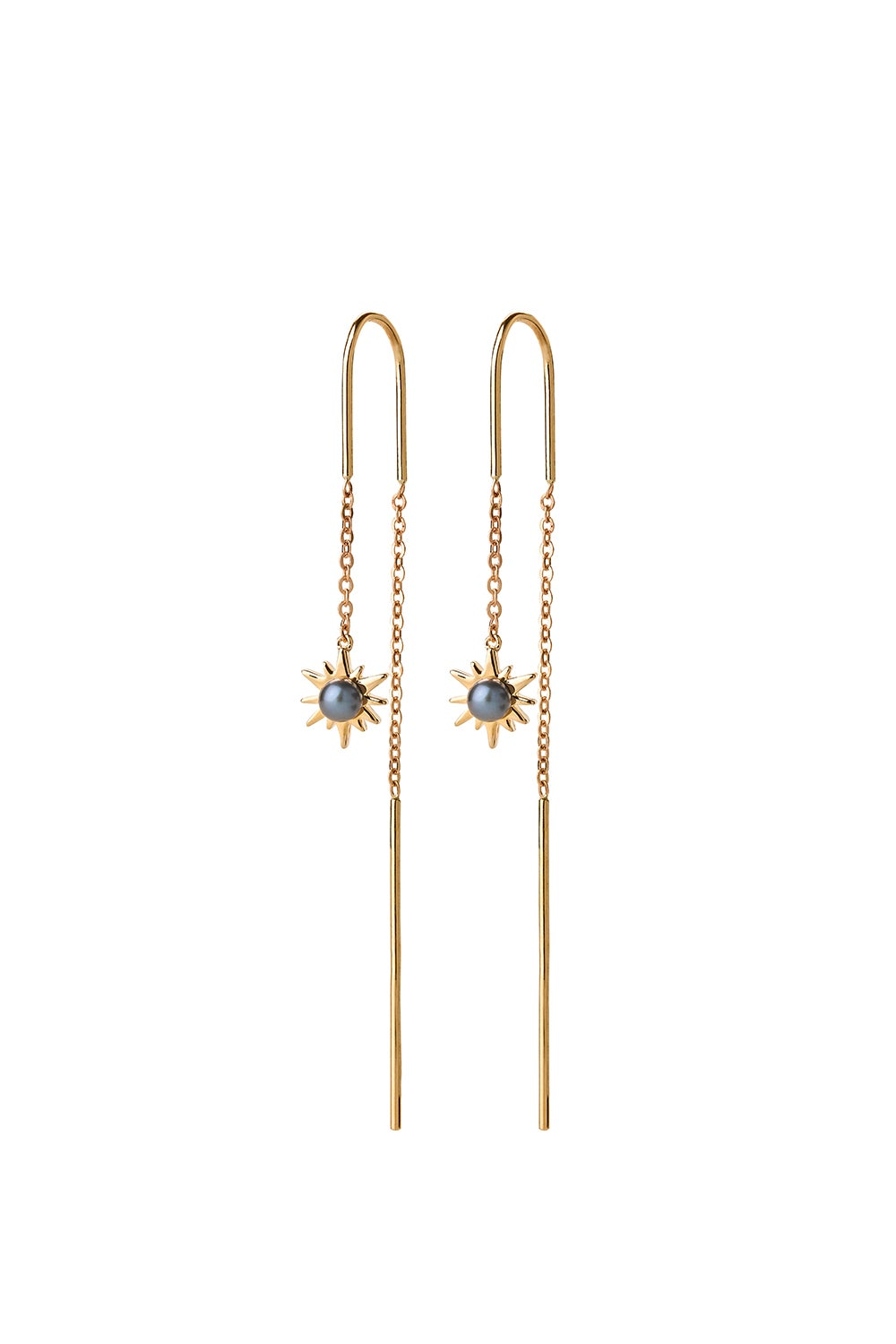Temptation Thread Earrings Gold