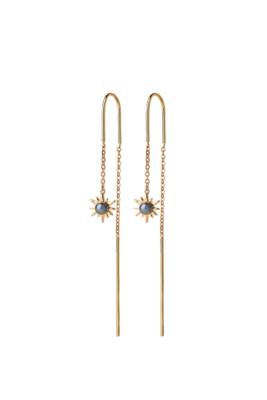 Temptation Thread Earrings Gold