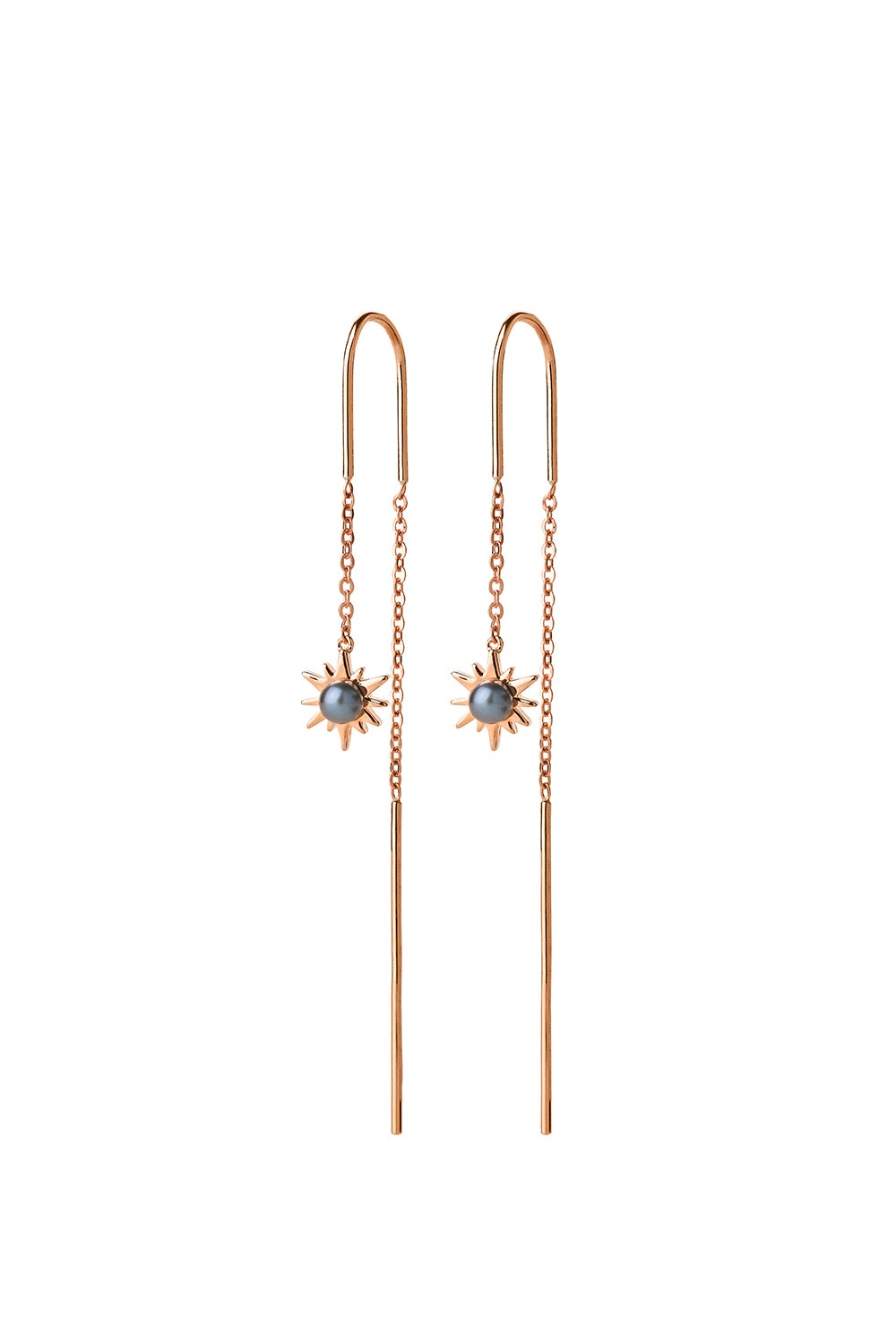 Temptation Thread Earrings Rose Gold