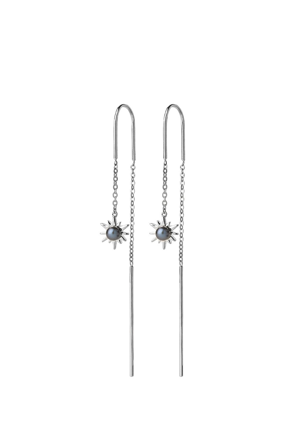 Temptation Thread Earrings Silver