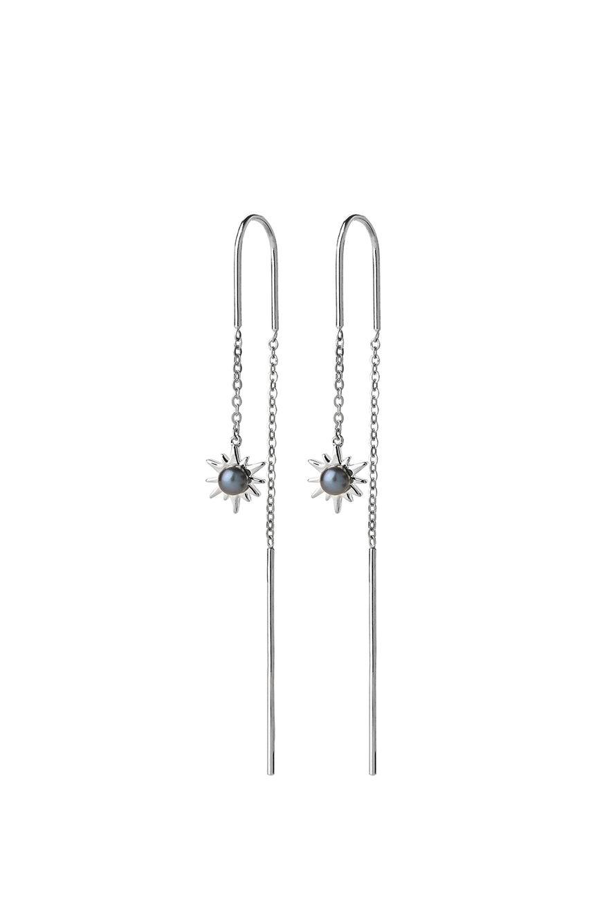 Temptation Thread Earrings Silver