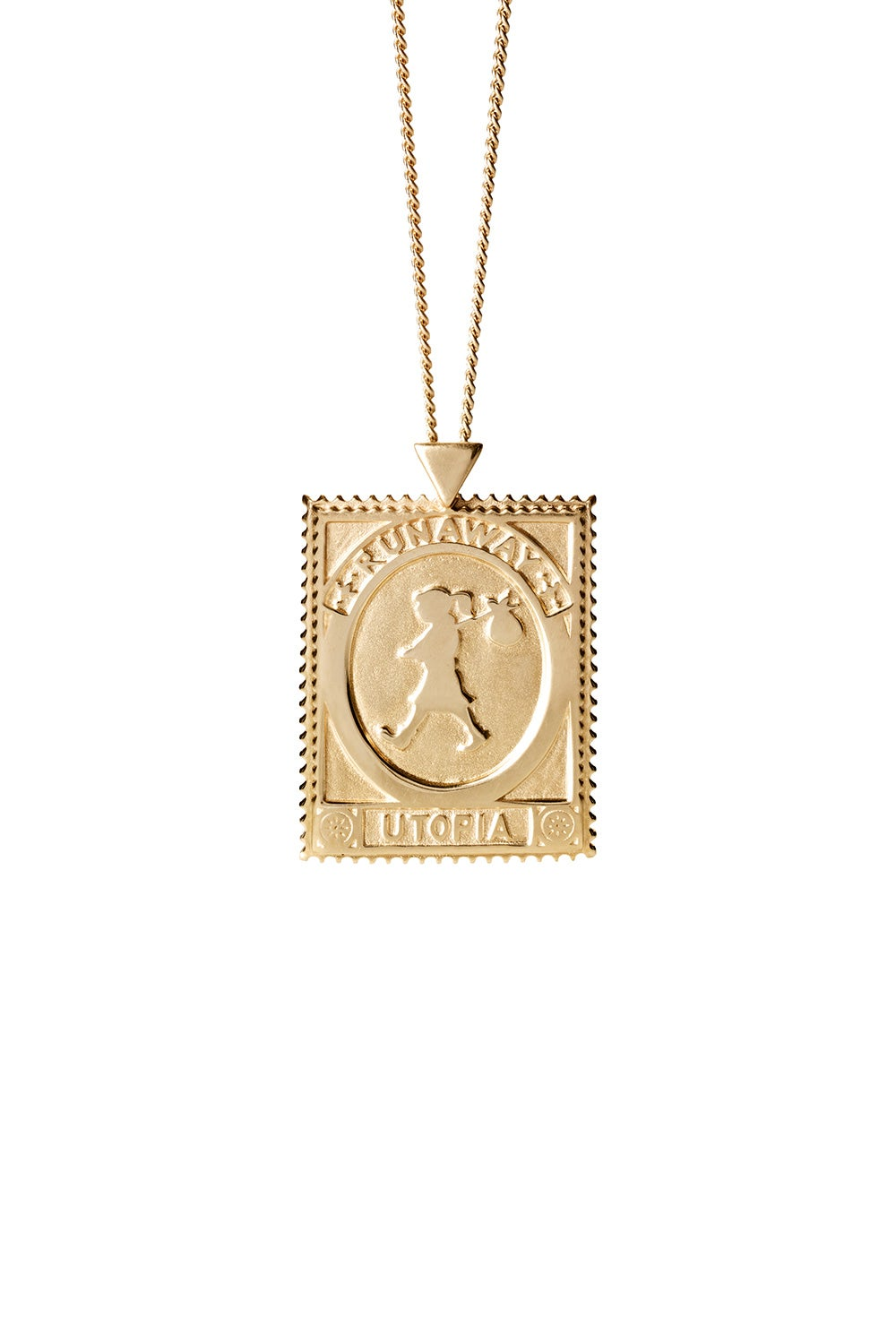 Utopia Stamp Necklace Gold