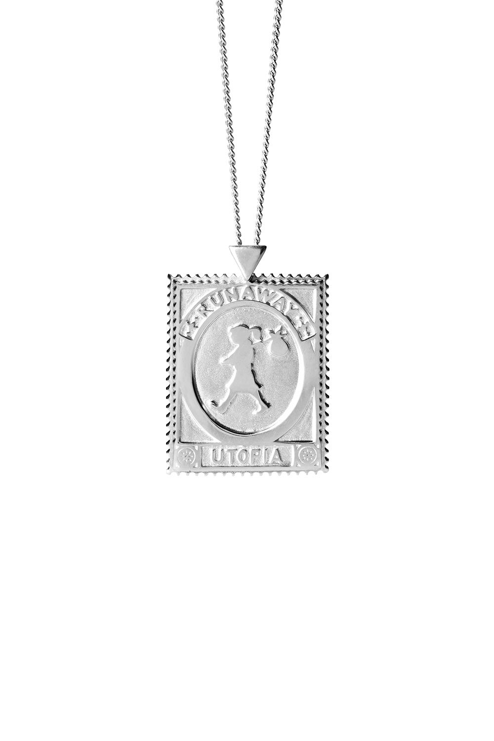 Utopia Stamp Necklace Silver