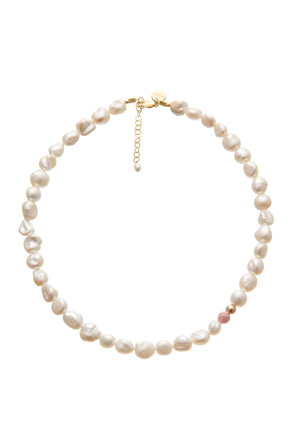 Vania Large Pearl with Rhodochrosite Necklace