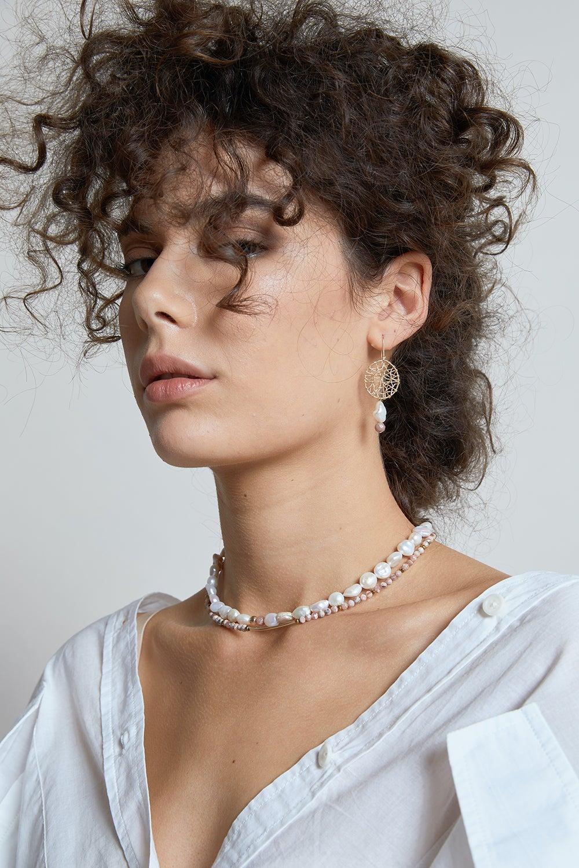 Vania Rhodochrosite Necklace