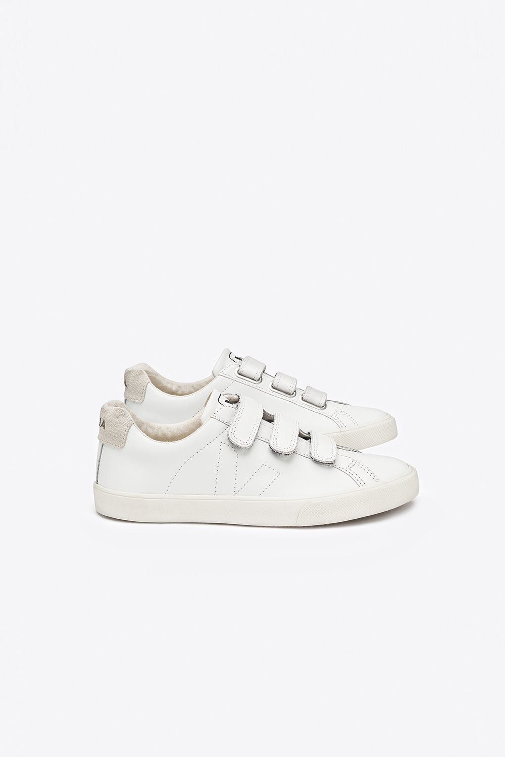 Veja 3 Locks Leather Extra White Pierre
