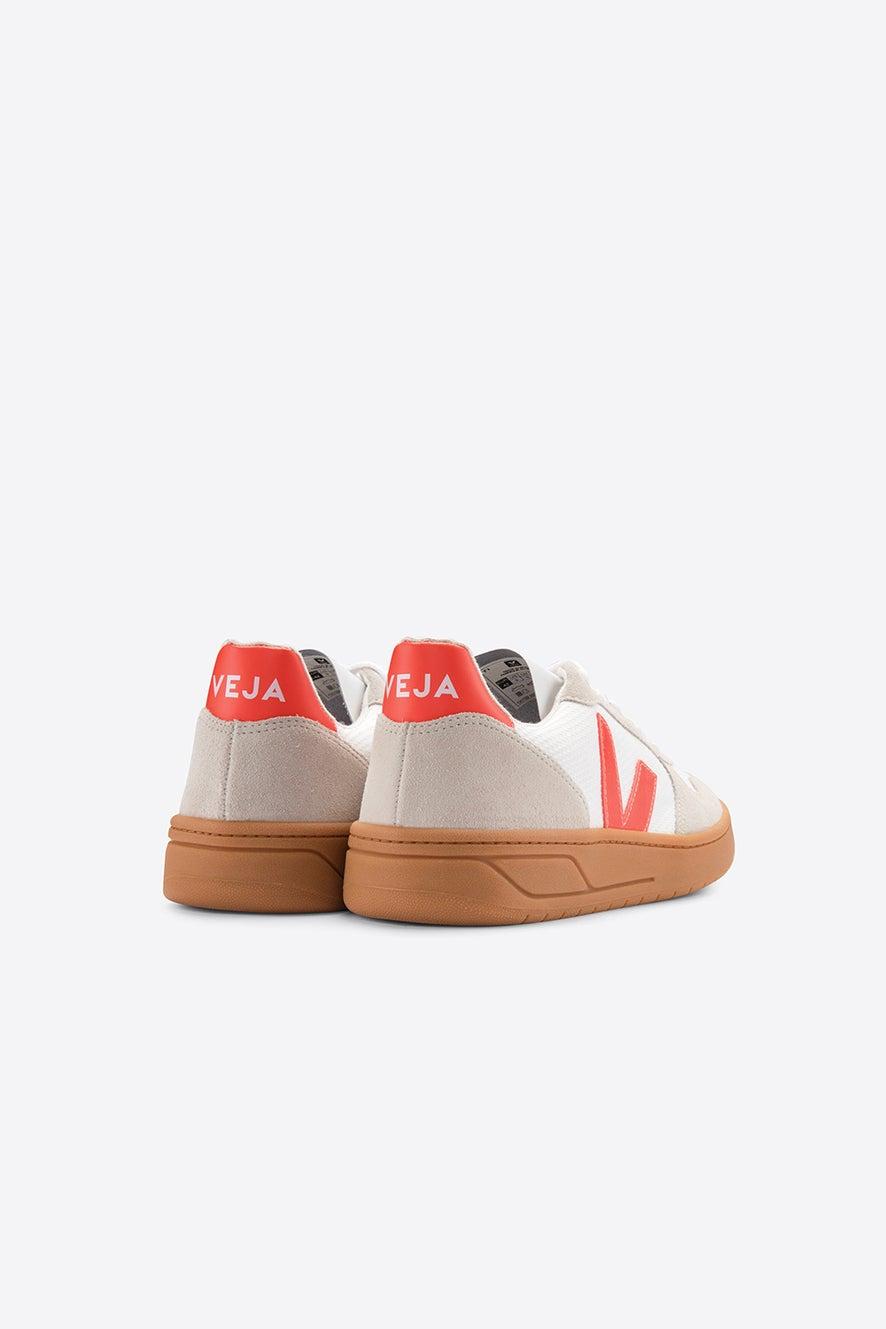Veja V-10 White/Orange Fluo/Natural