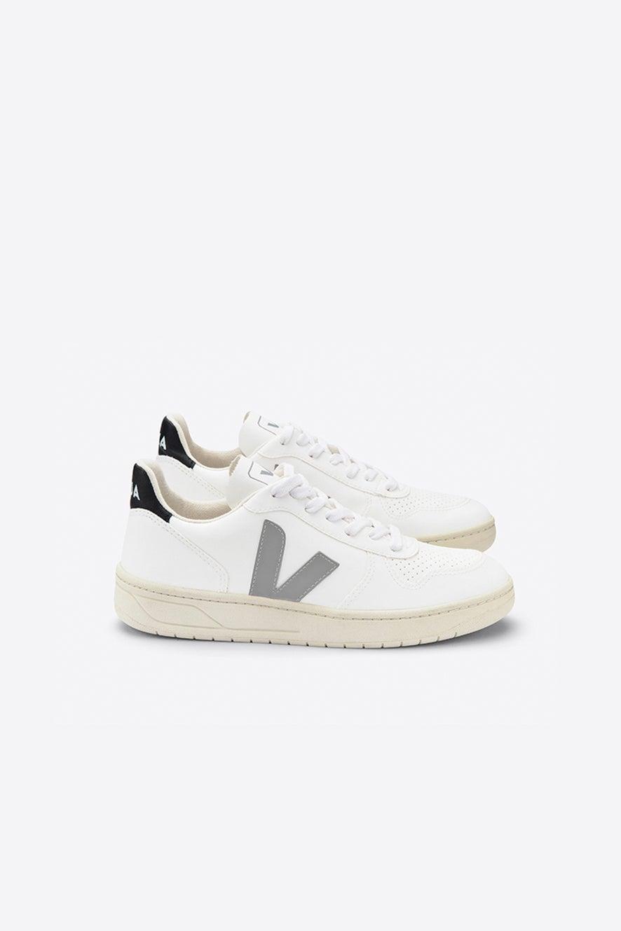 Veja V-10 White/Oxford Grey/Black