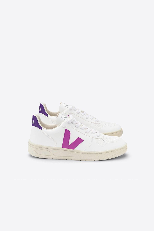 Veja V-10 White/Ultraviolet/Purple