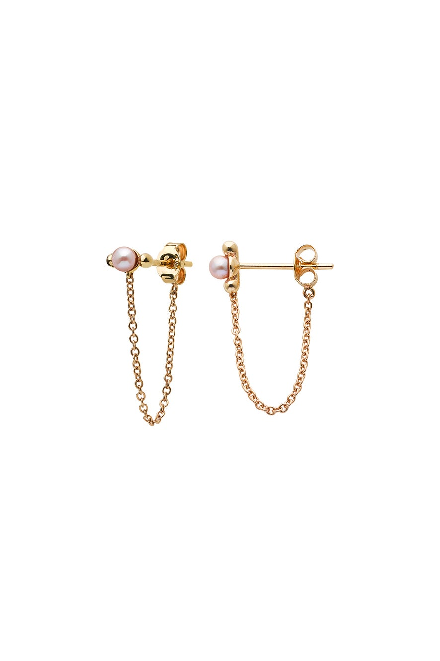 Vermeer Pearl Earrings Gold