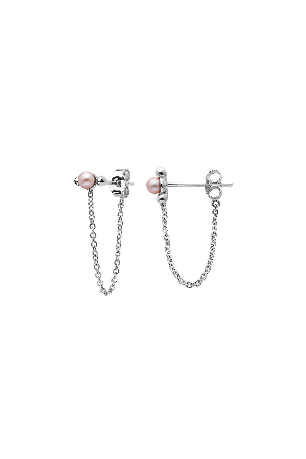Vermeer Pearl Earrings Silver