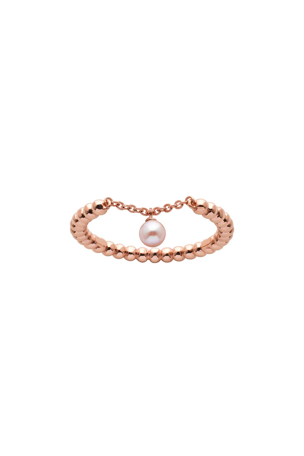 Vermeer Pearl Ring Rose Gold