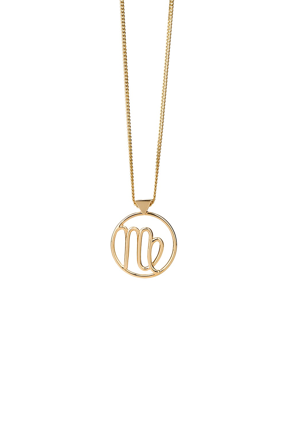 Virgo Necklace Gold
