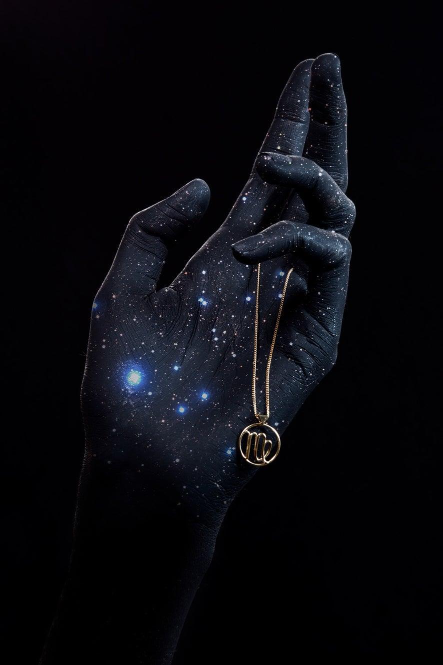 Virgo Necklace Gold