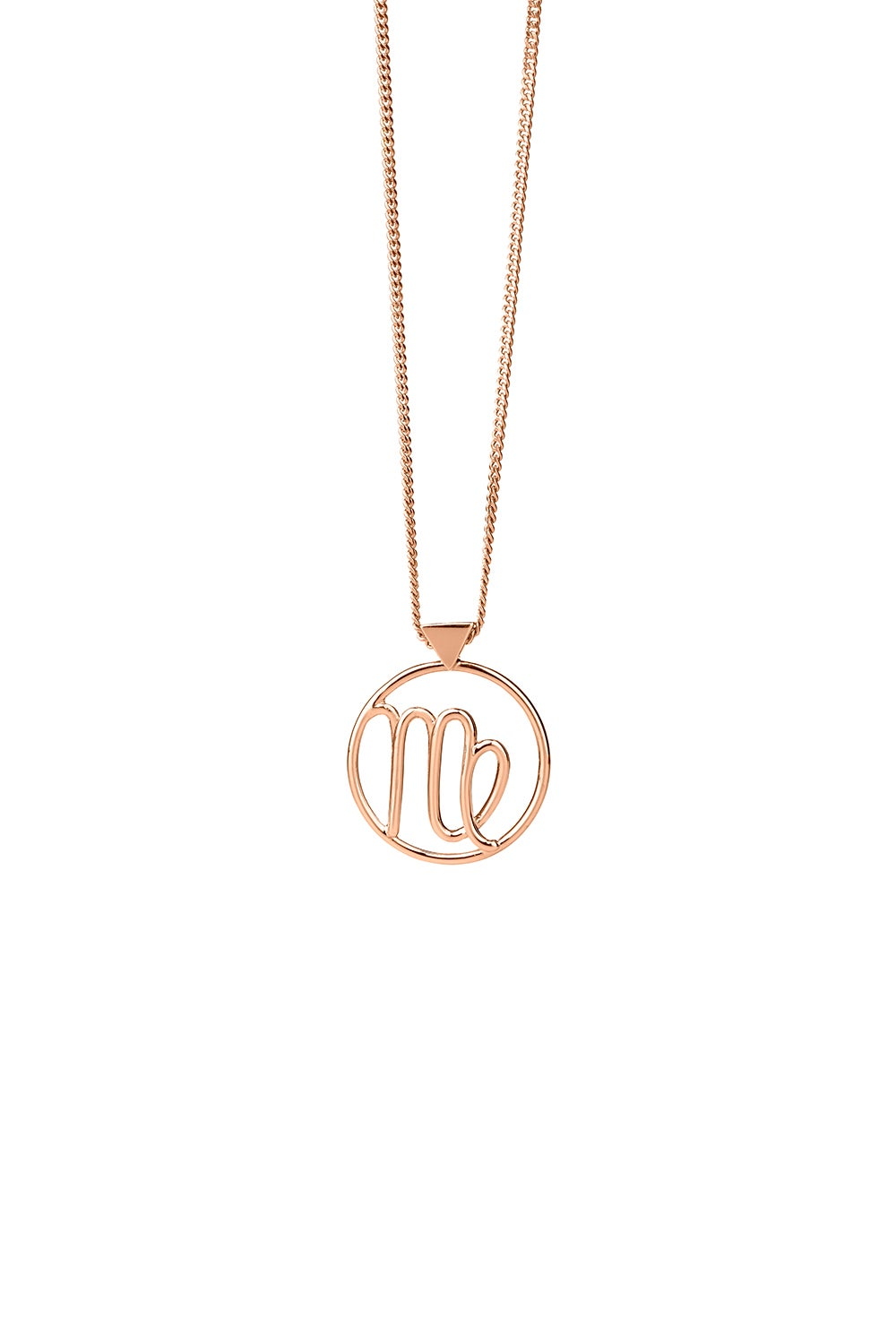 Virgo Necklace Rose Gold