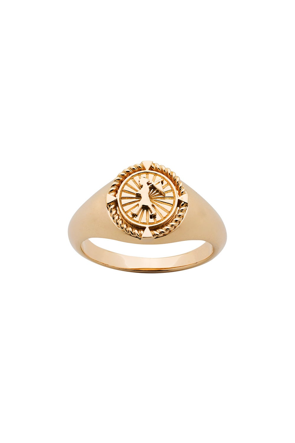 Voyager Signet Ring Gold