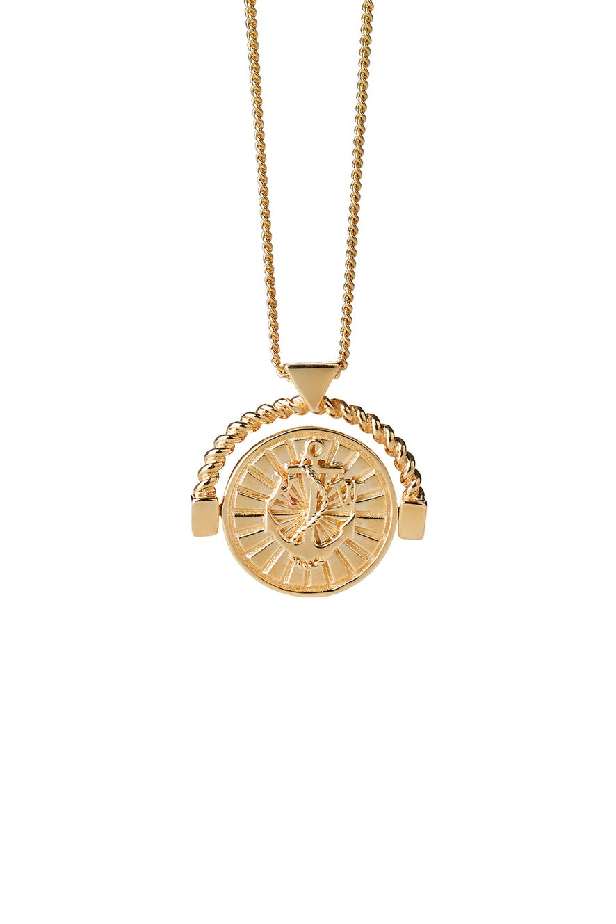 Voyager Spin Necklace Gold