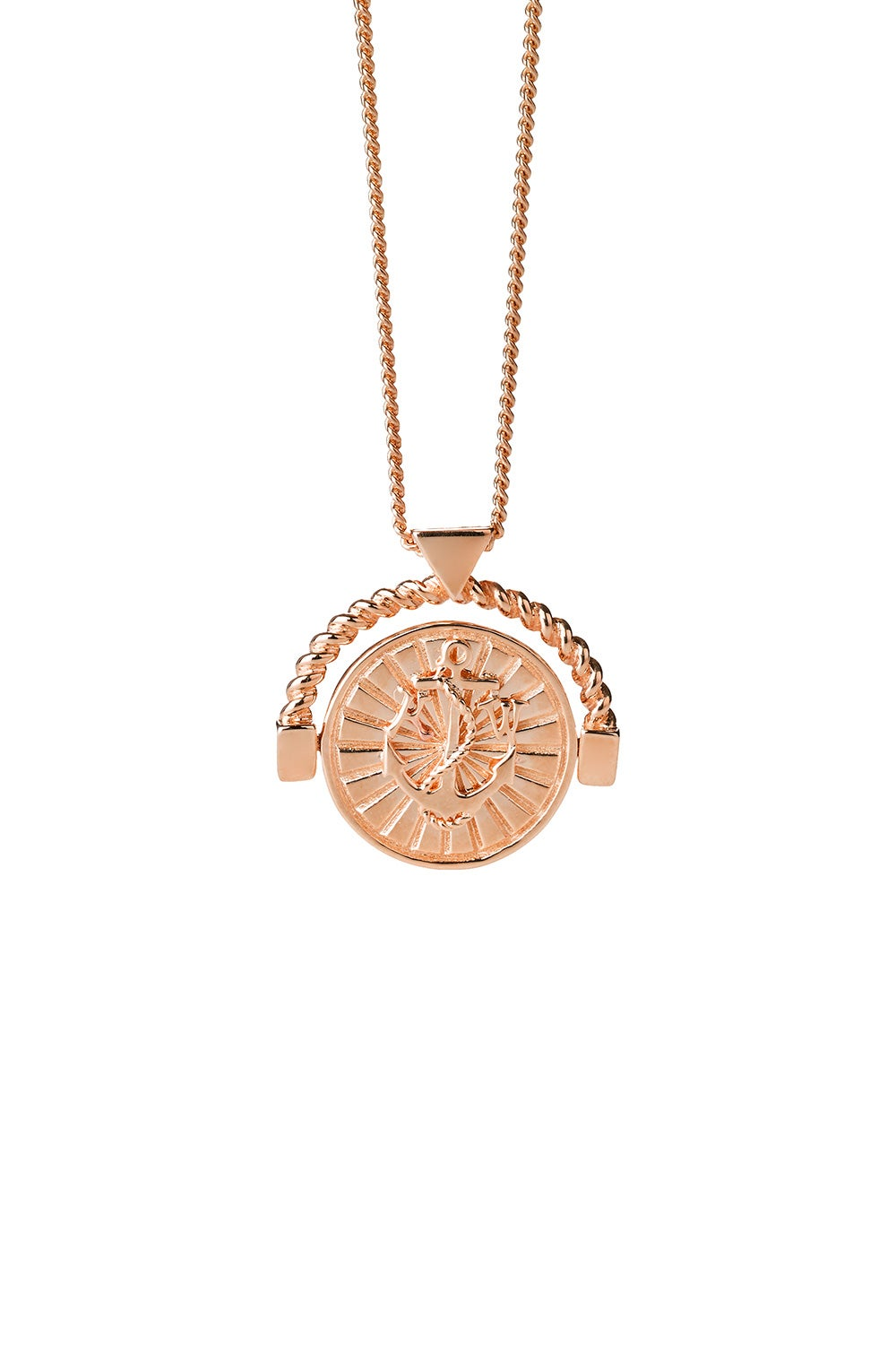 Voyager Spin Necklace Rose Gold