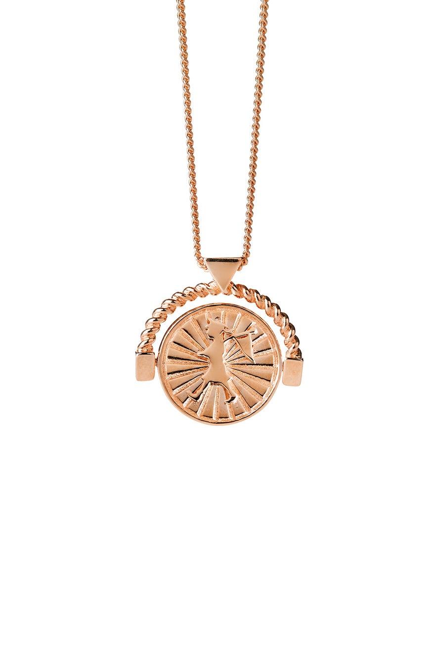 Voyager Spin Necklace Rose Gold