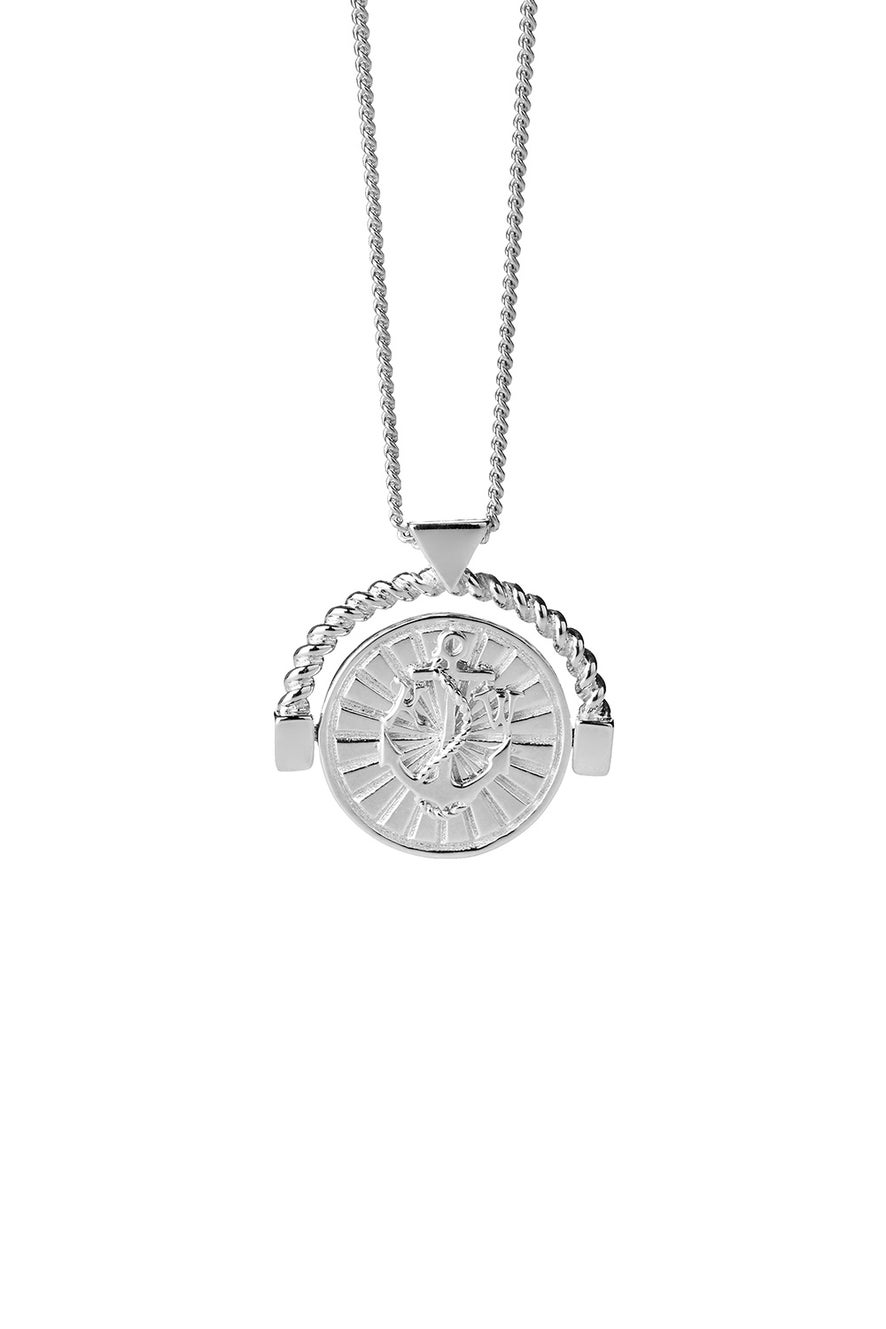 Voyager Spin Necklace Silver