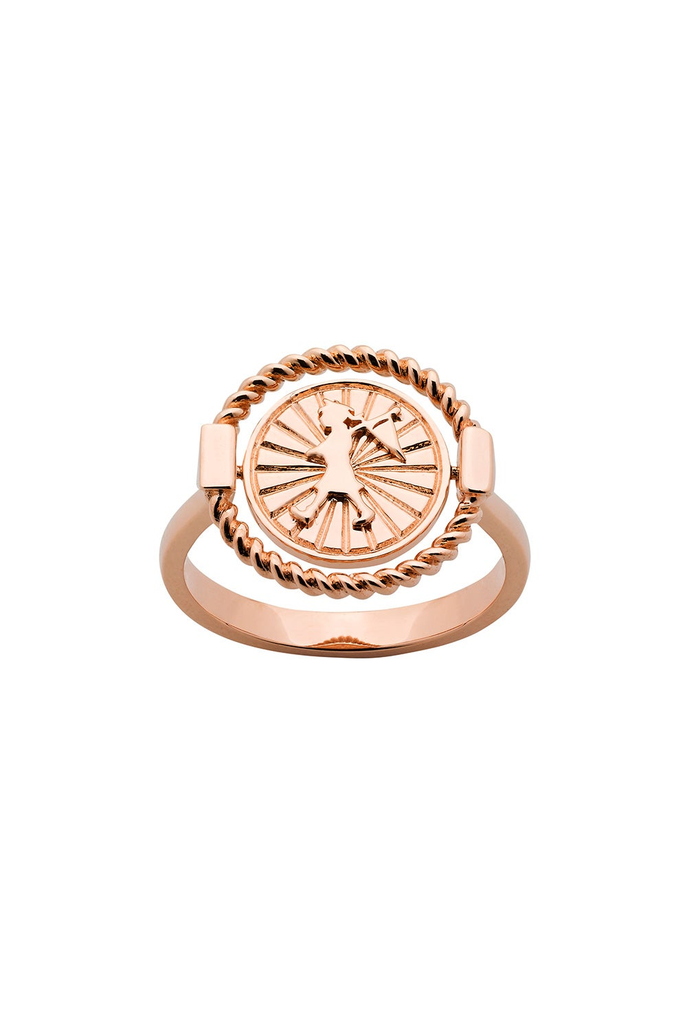 Voyager Spin Ring Rose Gold