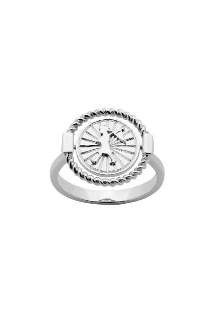Voyager Spin Ring Silver
