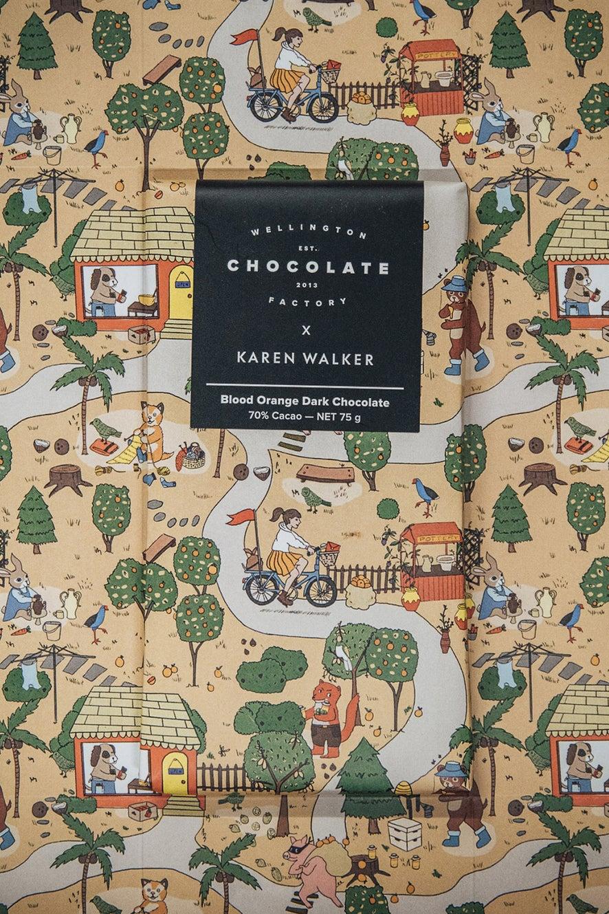 Wellington Chocolate Factory x Karen Walker Blood Orange Dark Chocolate
