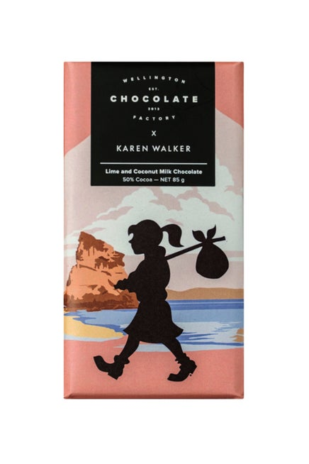 Wellington Chocolate Factory x Karen Walker Lime and Coconut Milk Chocolate