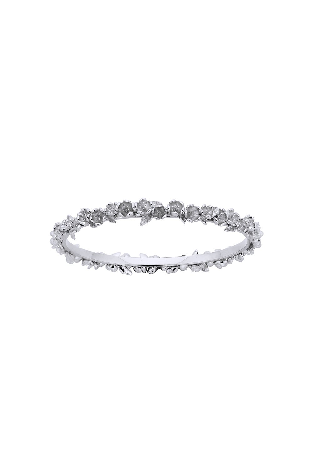 Wreath Bangle Silver 65mm