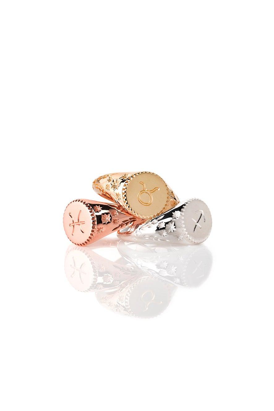 Zodiac Ring Rose Gold
